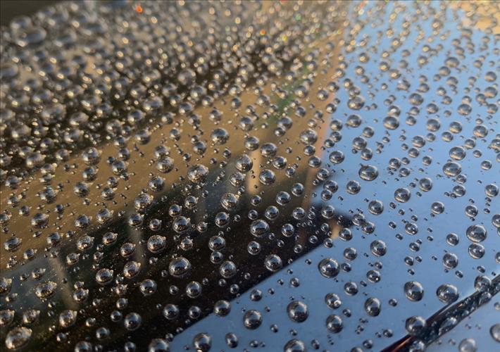 アクアガラスコーティング撥水状況
