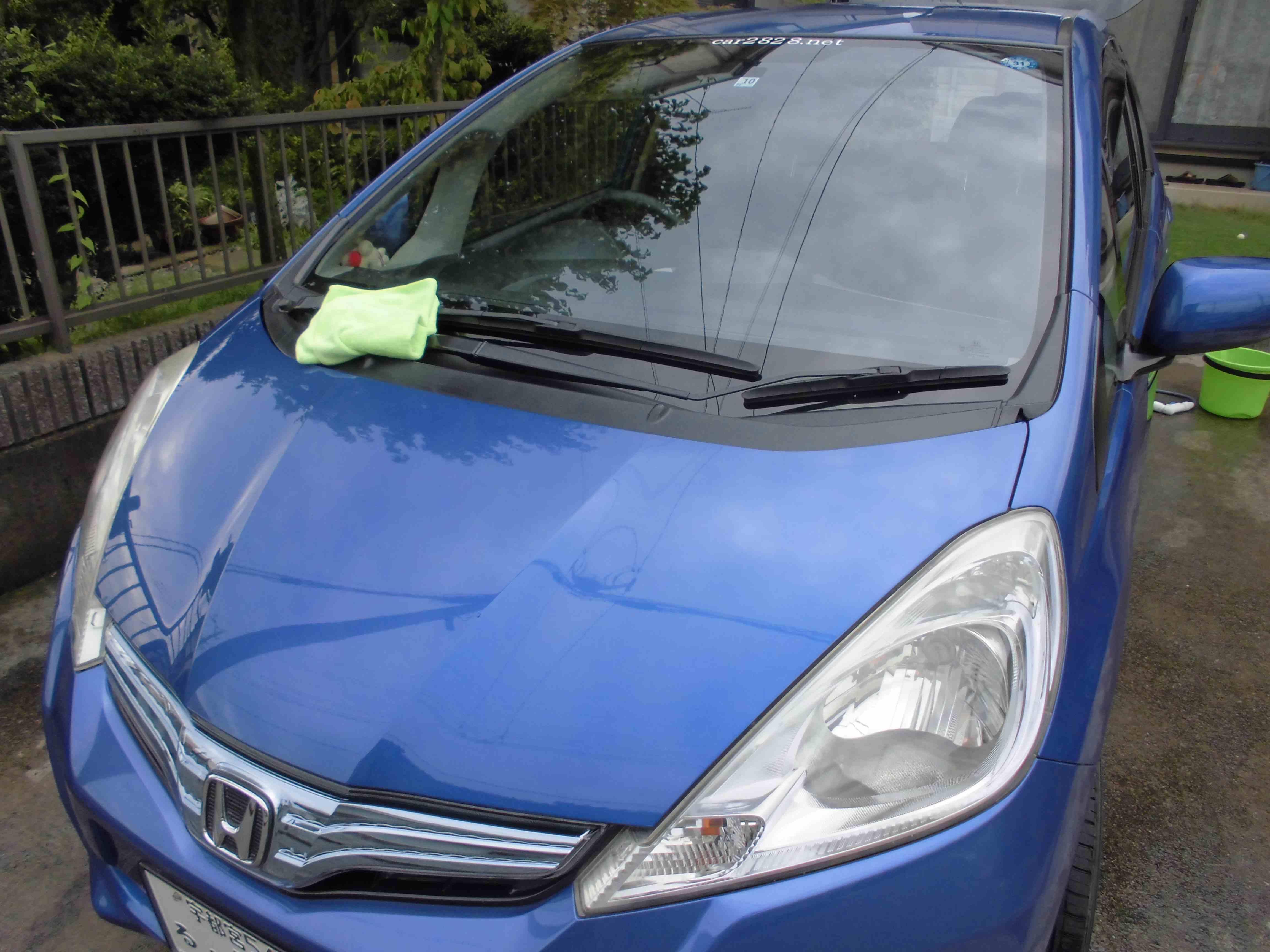 車の水滴拭き上げで完成